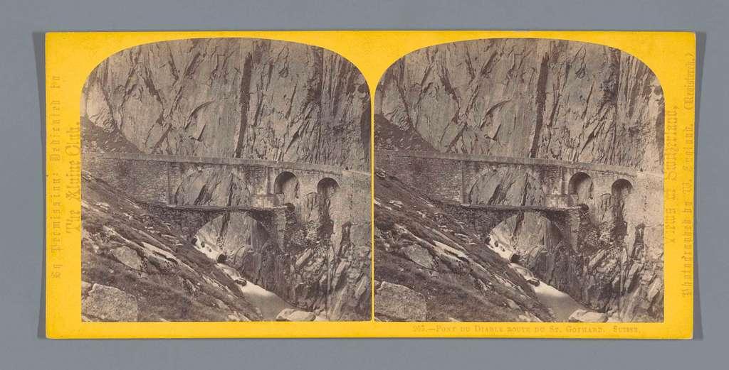 Gezicht op de Pont du Diable