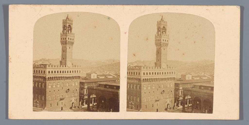 Gezicht op het Palazzo Vecchio te Florence