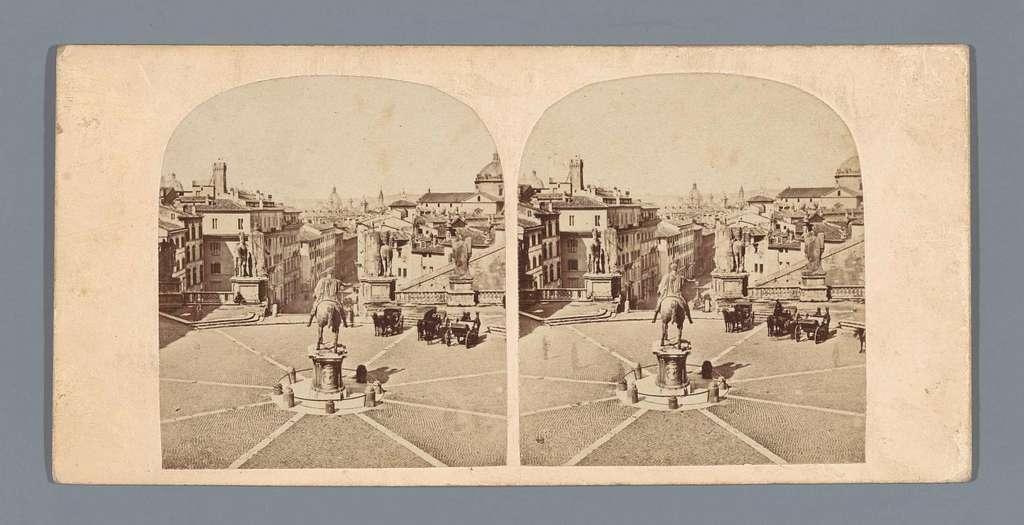 Gezicht op het Piazza del Campidoglio te Rome