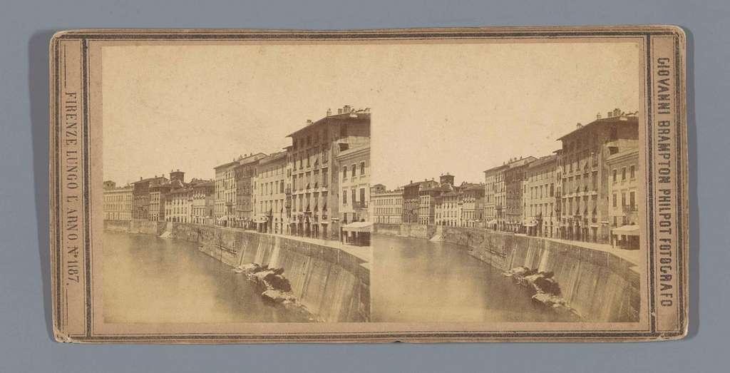 Kade langs de Arno te Pisa