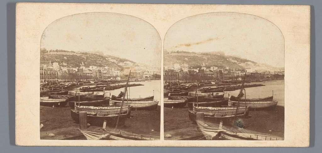 Kade van Napels, met op de voorgrond boten