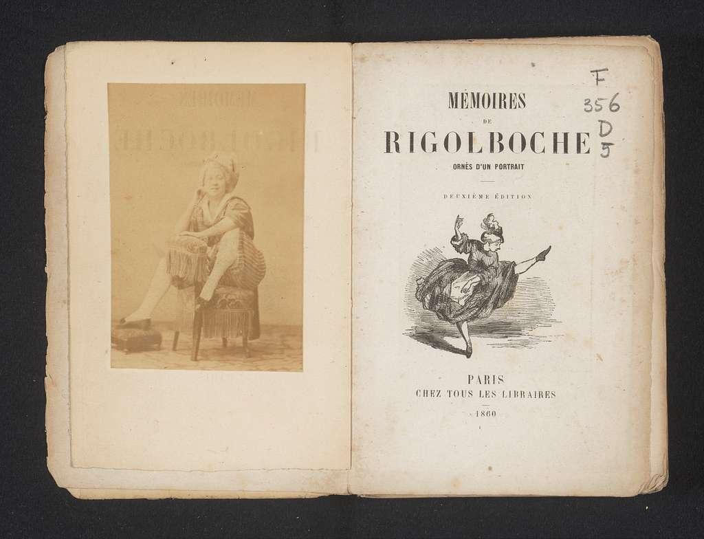 Portret van Amelia Marguerite Badel, ook wel bekend als Rigolboche