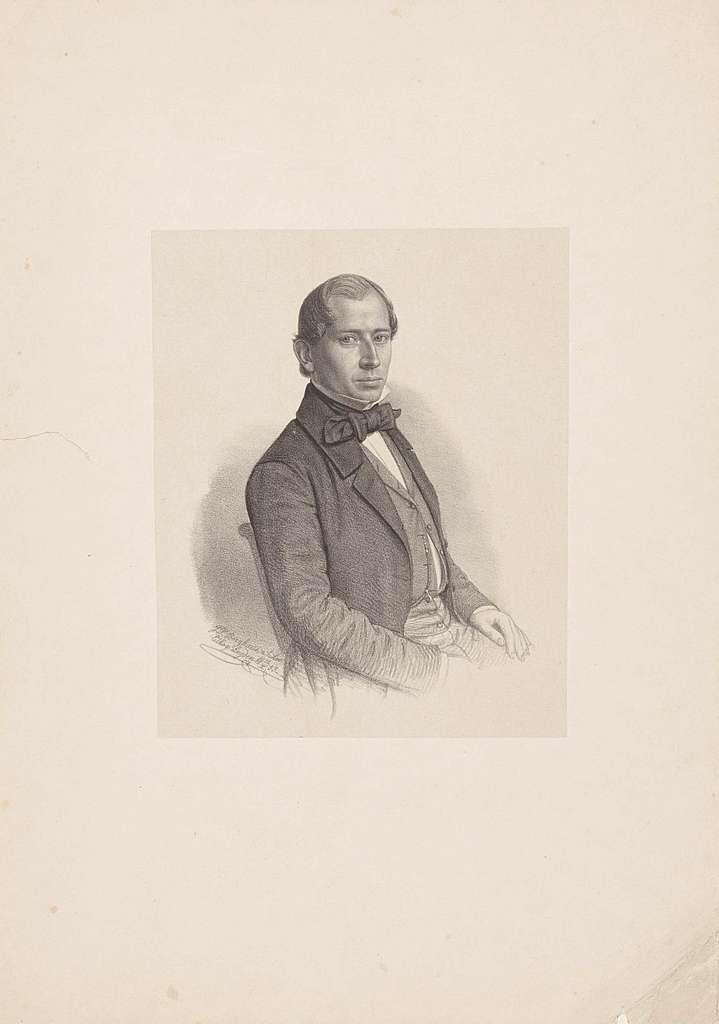 Portret van een onbekende man, mogelijk Th. K. van Slingenlandt