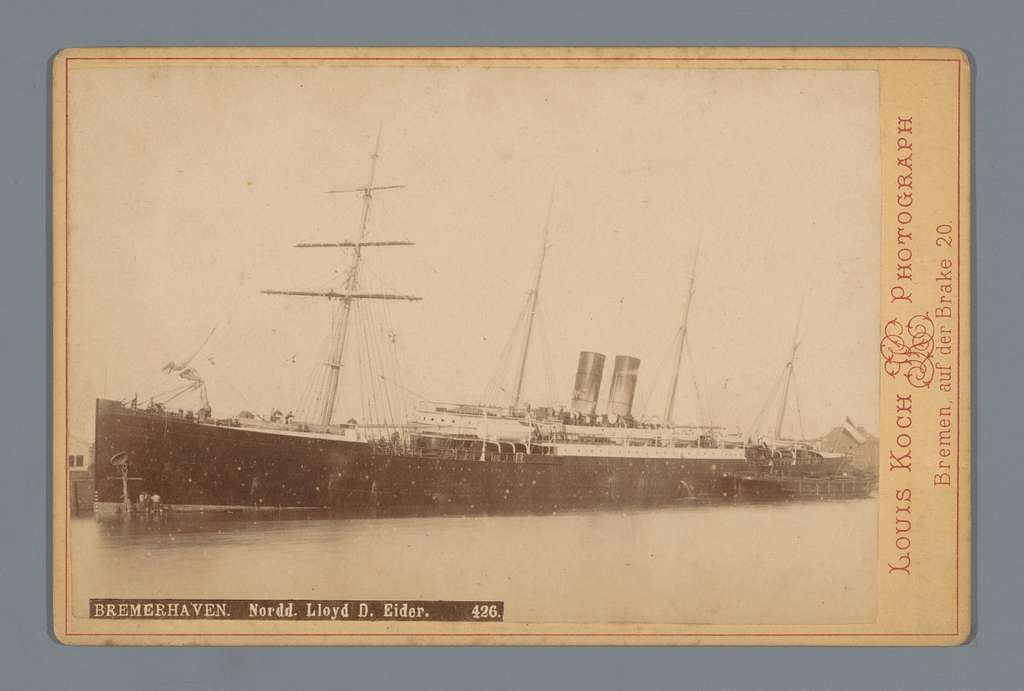 Schip in Bremerhaven