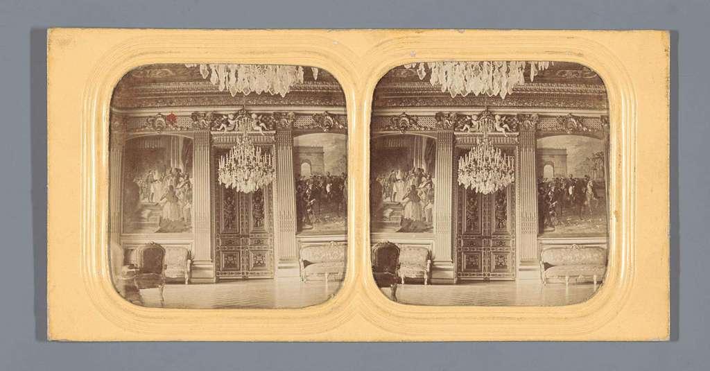 De keizerlijke trouwzaal in het Palais du Luxembourg, Parijs
