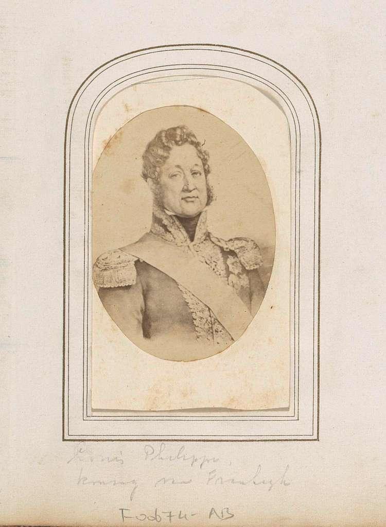 Fotoreproductie van (vermoedelijk) een geschilderd portret van Lodewijk Filips I, koning van Frankrijk