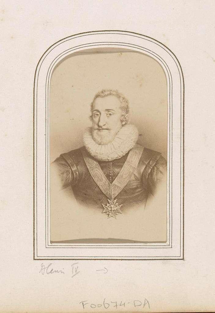 Fotoreproductie van (vermoedelijk) een prent van Henri IV, koning van Frankrijk