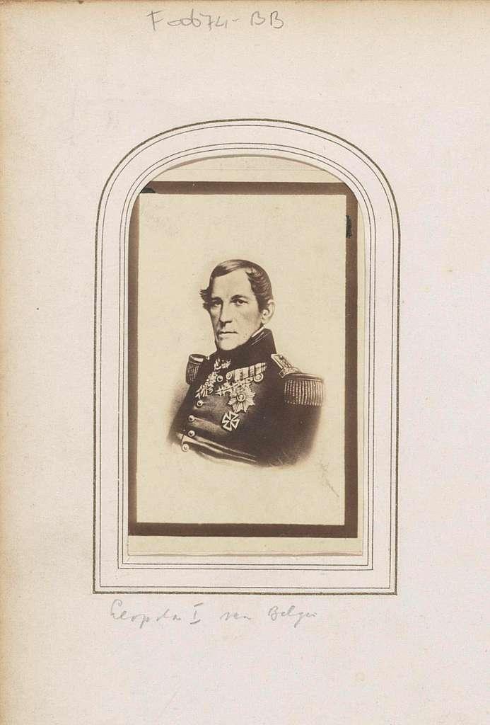 Fotoreproductie van (vermoedelijk) een prent van koning Leopold I van Belgie