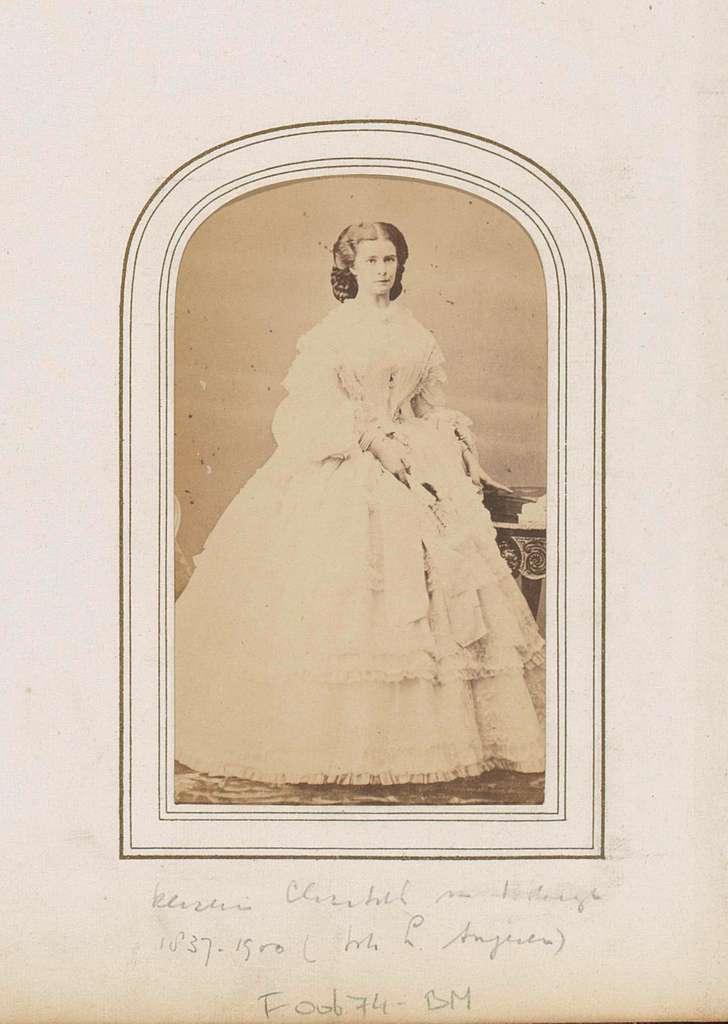 Portret van Elisabeth van Beieren ('Sisi'), keizerin van Oostenrijk
