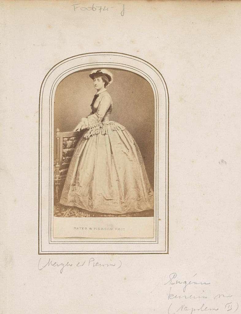 Portret van Eugénie, keizerin van Frankrijk, echtgenote Napoleon III
