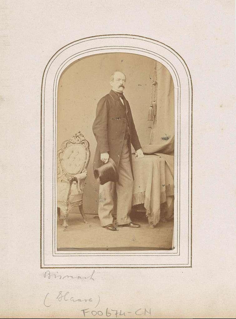 Portret van Otto van Bismarck, Duits staatsman