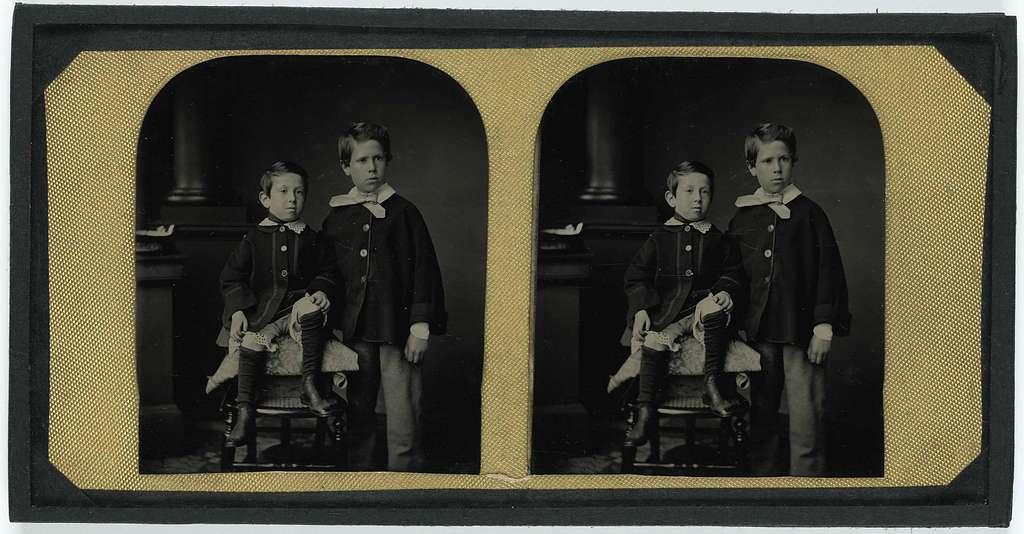 Portret van twee broertjes