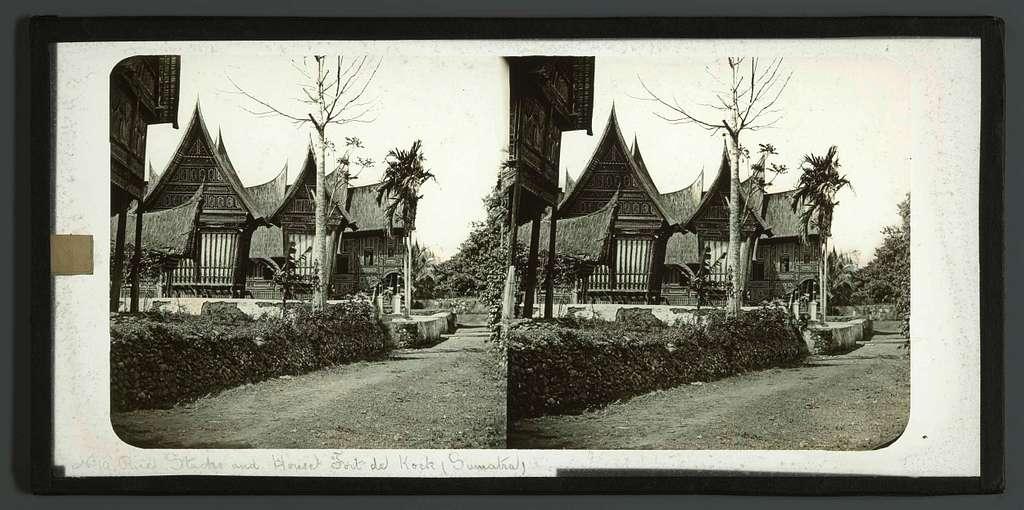 Rice Stocks and House Fort de Kock (Sumatra)