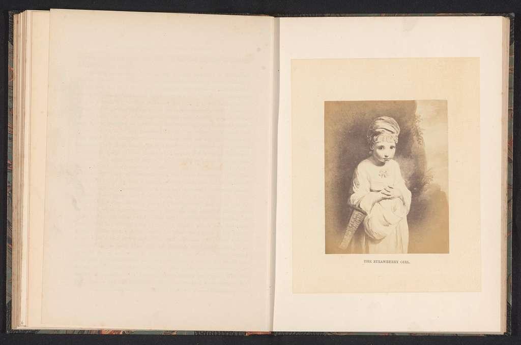 Fotoreproductie van The Strawberry Girl door Joshua Reynolds