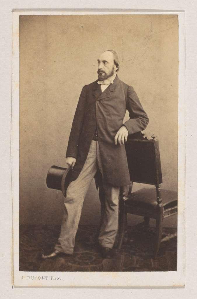 Portret van de graveur Jean Baptiste Pierre Michiels, ten voeten uit