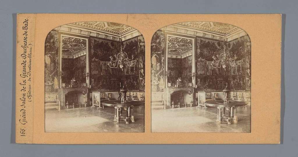 De grote salon van Stéphanie de Beauharnais, de groothertogin van Baden, in het kasteel van Fontainebleau