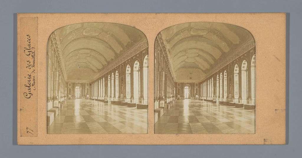 Interieur van de Spiegelzaal in het paleis van Versailles
