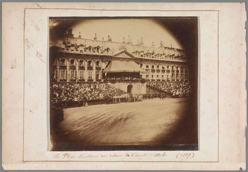 Military Parade of the French Army on Place Vendôme, Paris