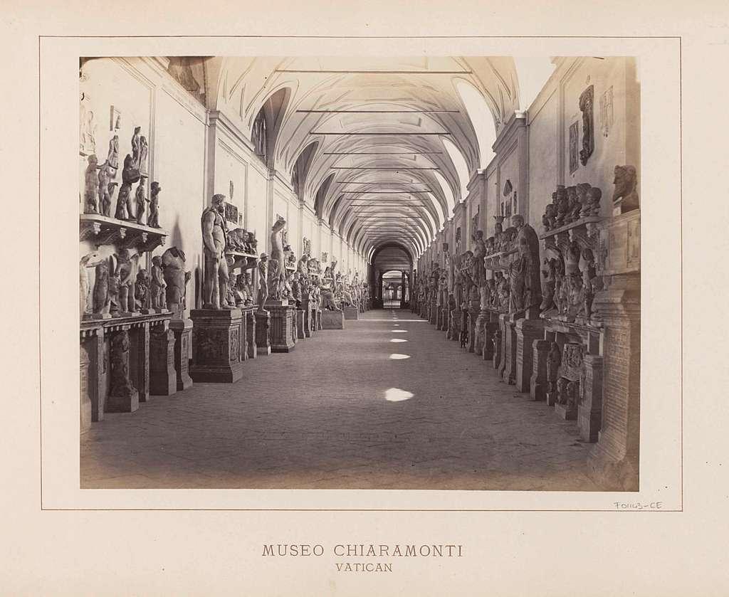 Beeldengalerij in Museo Chiaramonti in Vaticaanstad