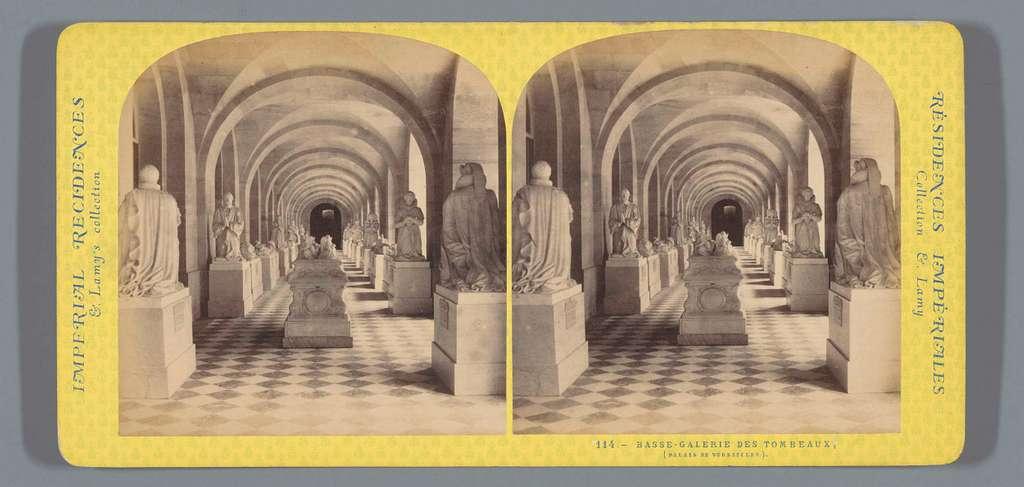 Galerij met graftombes in het paleis van Versailles