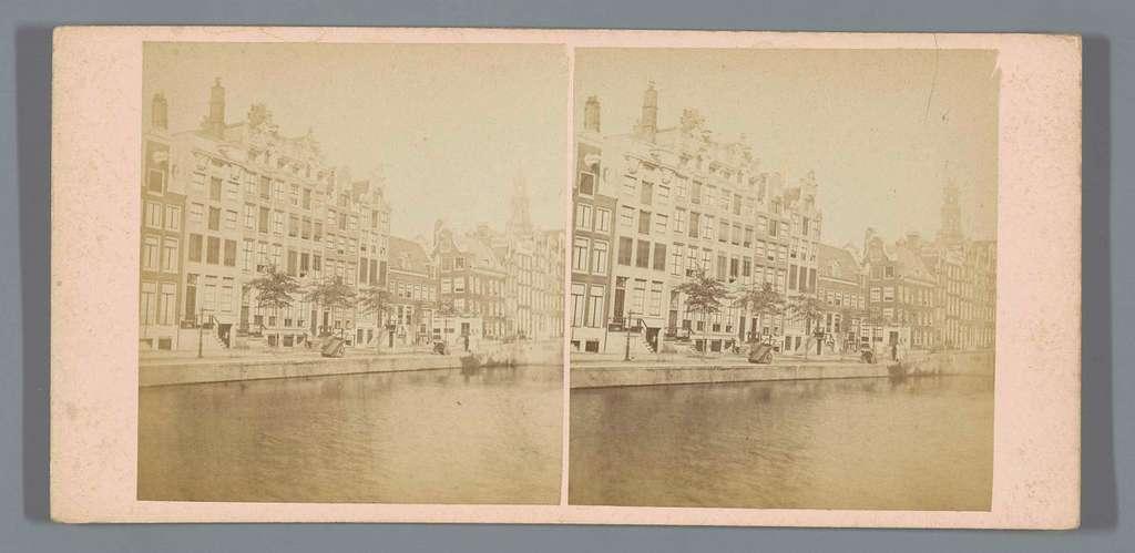 Gezicht op de Keizersgracht in Amsterdam