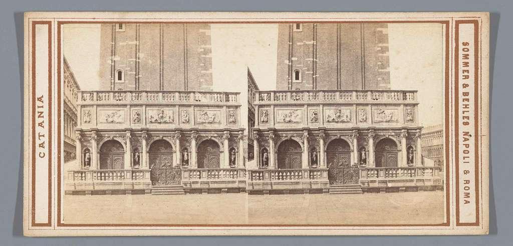 Gezicht op de Loggetta del Sansovino in Venetië