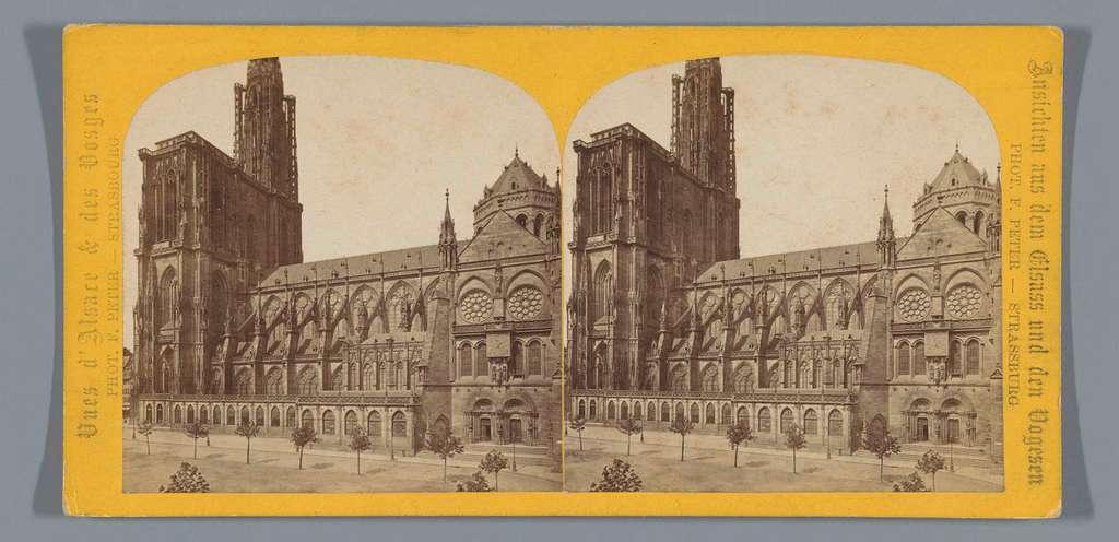Gezicht op de Notre-Dame van Straatsburg