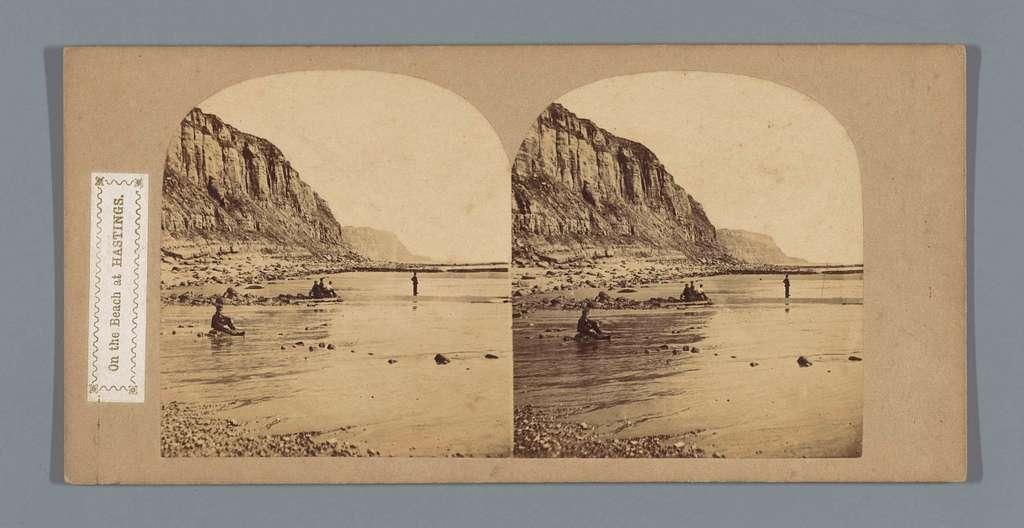 Kust met rotsen bij Hastings