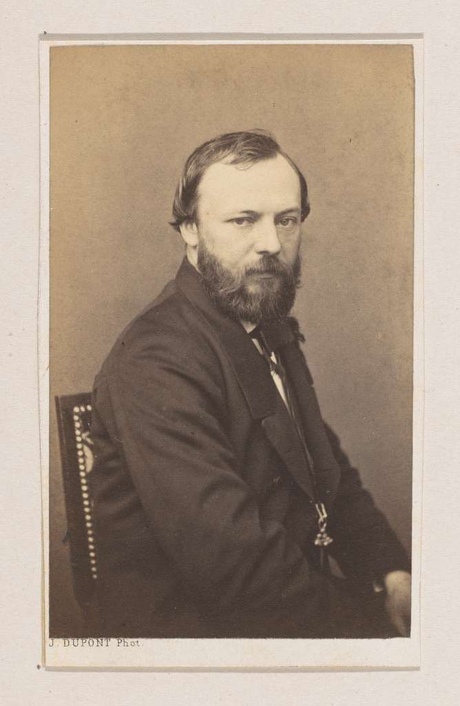 Portret van de schilder Henri Adolphe Schaep, halffiguur