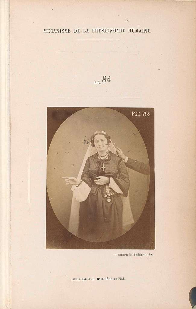 Portret van een proefpersoon tijdens elektrostimulatie: 'Lady Macbeth'