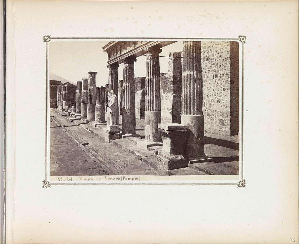 Restanten van de Tempel van Venus in Pompeï