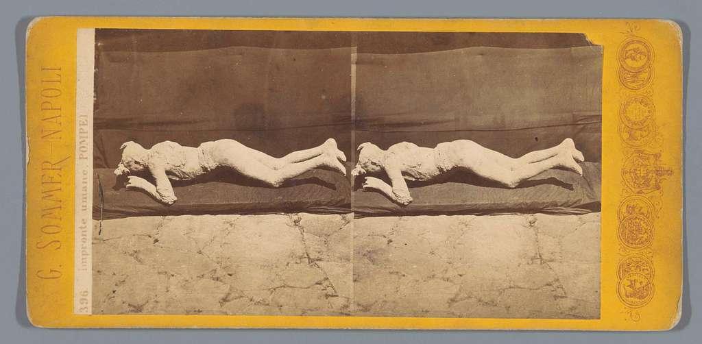 Resten van een menselijk lichaam gevonden on Pompeï