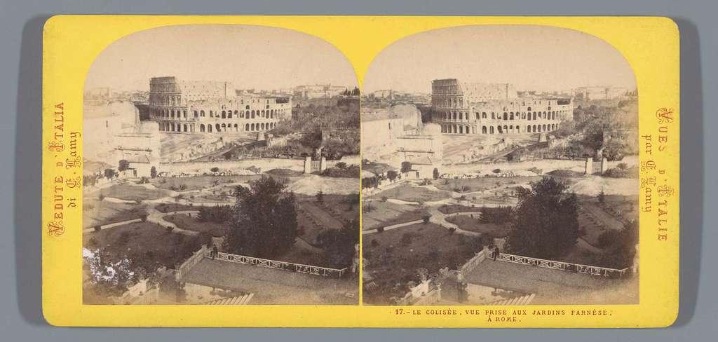 Colosseum gezien vanaf de Farnesische Tuinen, Rome