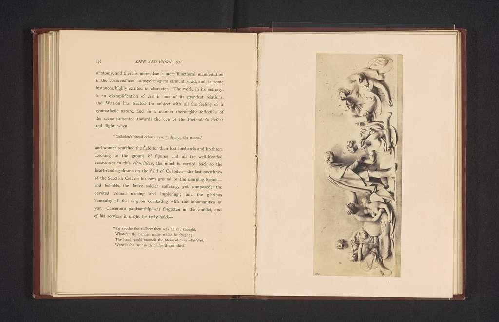 Reliëf, voorstellende de Slag bij Culloden