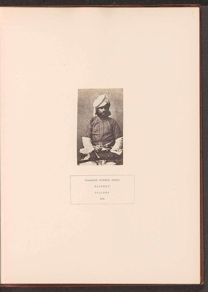 Portret van een onbekende officier of baron uit Sailana