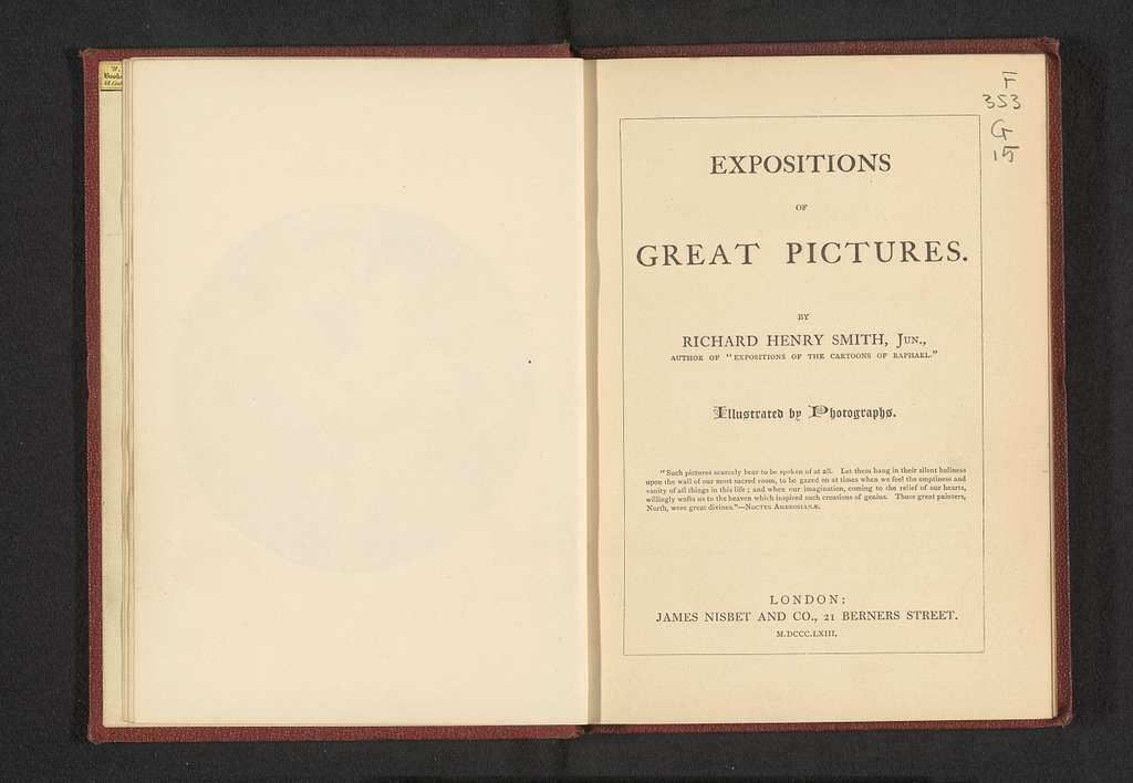 Expositions of great pictures