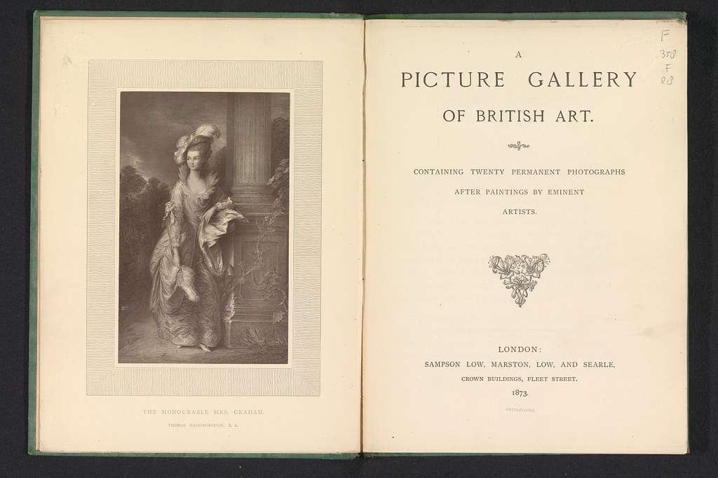 Fotoreproductie van het schilderij The Honourable Mrs Graham door Thomas Gainsborough