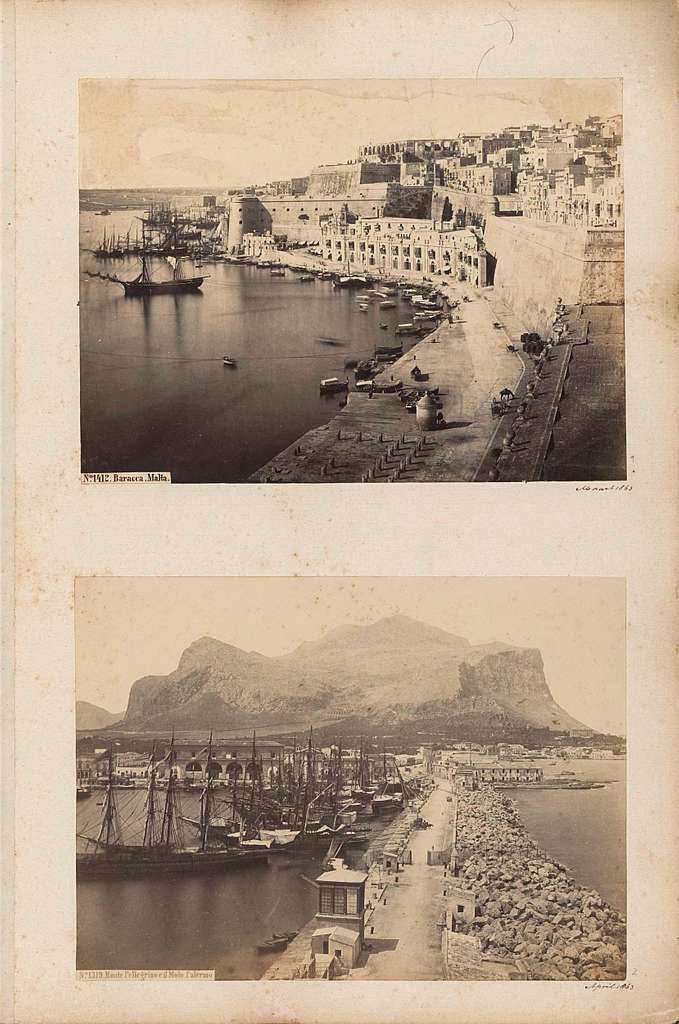 Gezicht op de haven van Valetta ter hoogte van Barakka