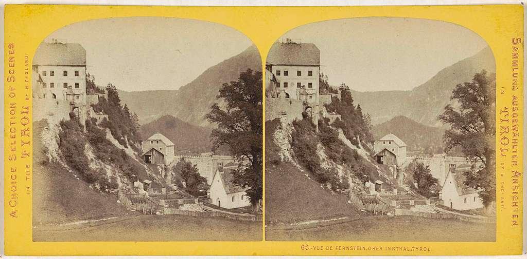 Gezicht vanaf Brug Fernstein richting het dal, Tirol
