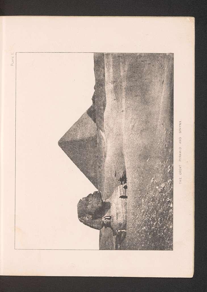 Gezicht op de Piramide van Cheops en de Sfinx van Gizeh