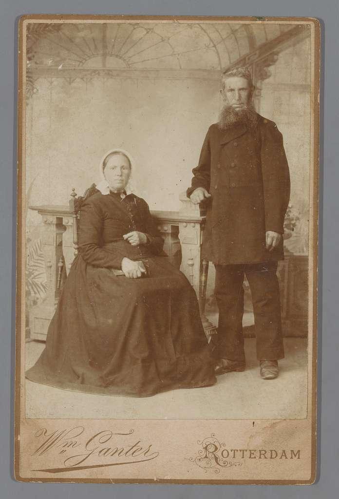 Portret van een onbekende man en vrouw
