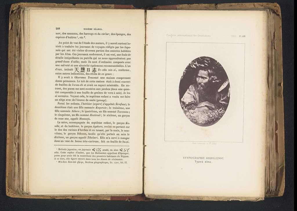 Portret van een onbekende man van de Aino