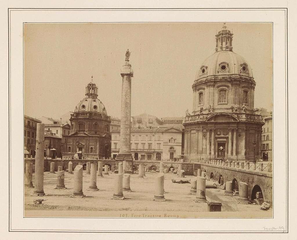 Gezicht op het Forum van Trajanus in Rome