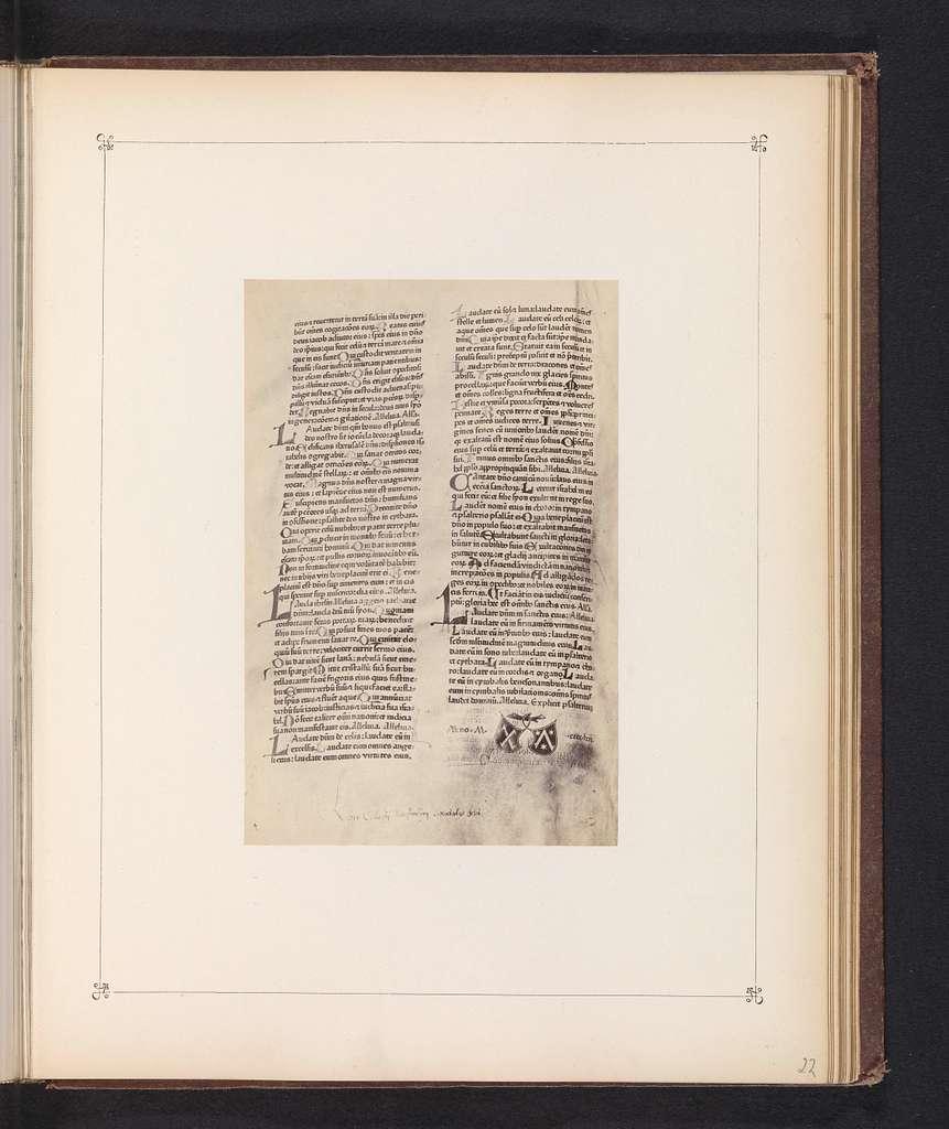 Fotoreproductie van de eerste pagina van het Mainz Psalter