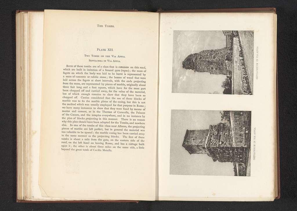 Twee tombes op de Via Appia in Rome