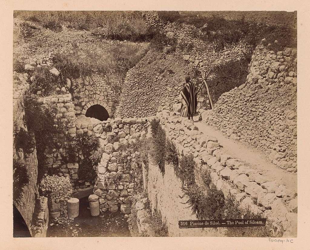 Vijver van Siloam bij Jeruzalem