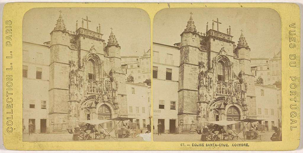 De façade van de Igreja de Santa Cruz, Coimbra