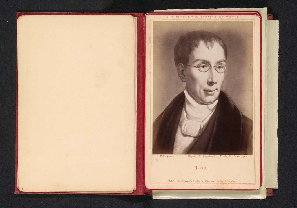 Fotoreproductie van een portret van Ferdinand Hérold door Eugen Felix