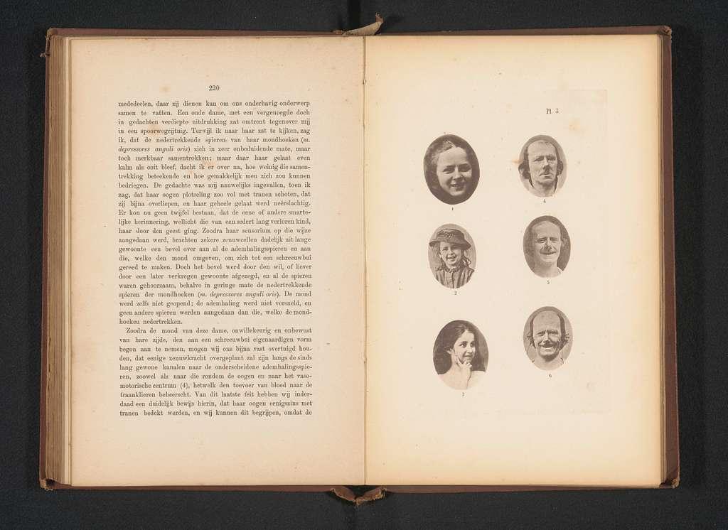 Overzicht van zes foto's ter illustratie van mensen met verschillende gezichtsuitdrukkingen