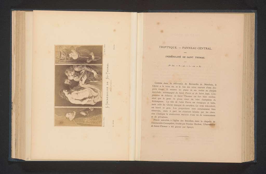 Fotoreproductie van De ongelovige Thomas door Peter Paul Rubens